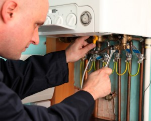 Repair work on boiler