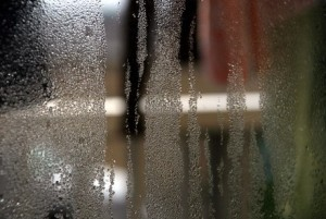 Condensation on Glass Window