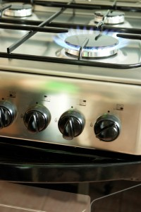 Cooker with hob