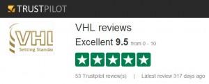 VHL on Trust Pilot