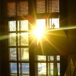 Natural light through window
