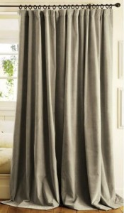 Thick curtains