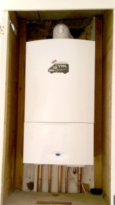 Newly installed boiler