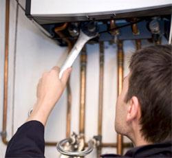 Releasing air from boiler
