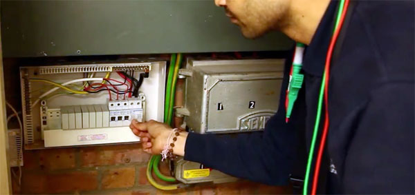 Circuit board tested as part of periodic inspection