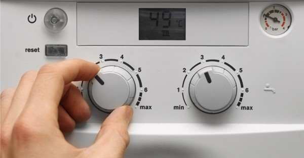 boiler dials being turned