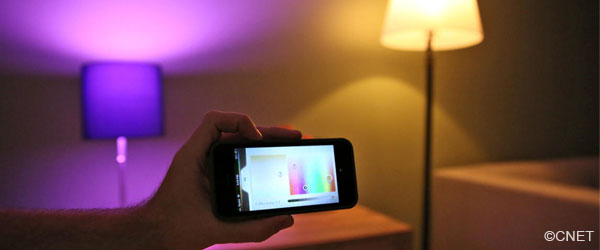Philips Hue LED lights controlled by smartphone