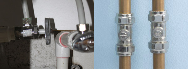 Stopcock & water isolation valve