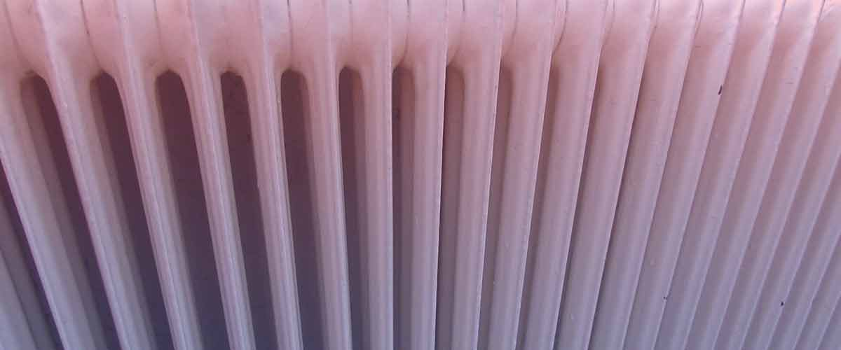 Warm to cold radiator