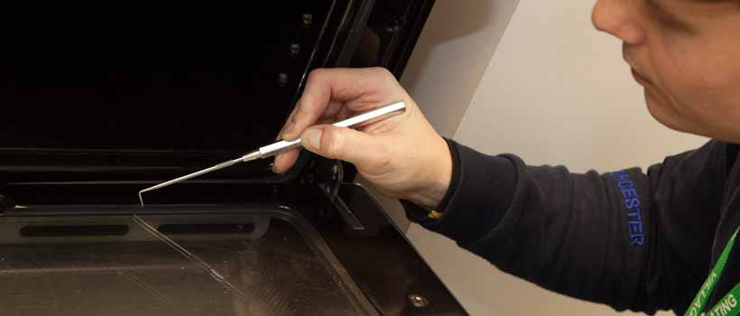 Gas tightness test of oven