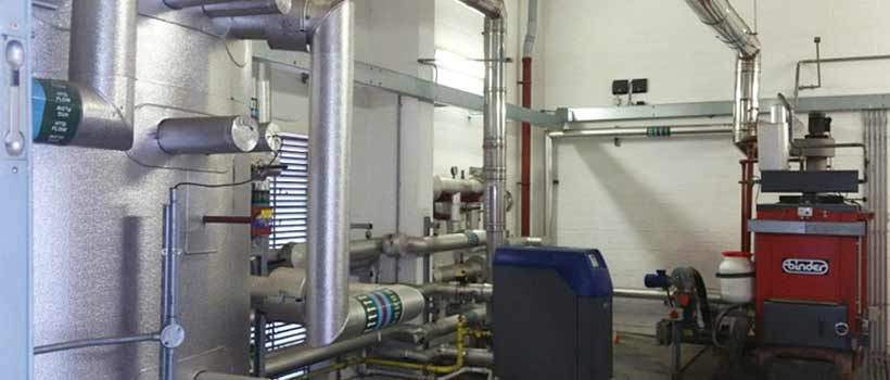 Commercial boiler room