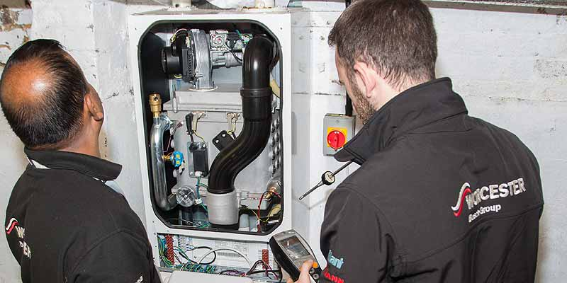 Boiler repair by two engineers